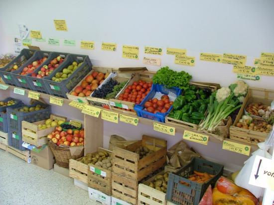 Rayons des fruits et légumes